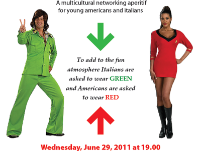 A multicultural networking aperitif for young Americans and Italians
